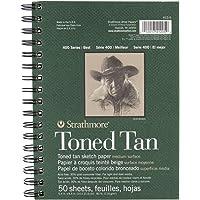"Strathmore Drawing 400 Series Toned Tan Sketch Pad, 5.5""x8.5"", 50 Sheets"
