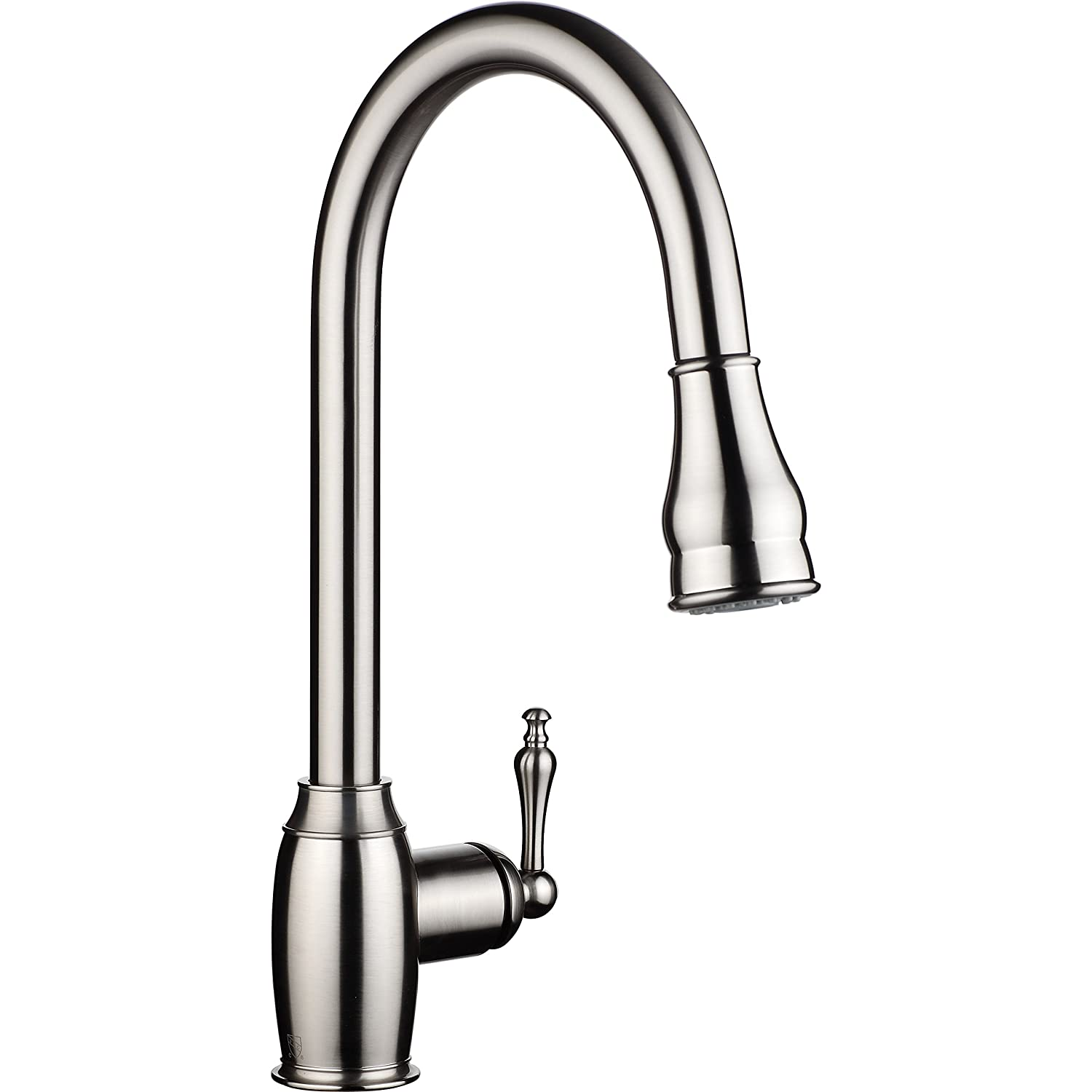 Single Handle Pull Down Sprayer Kitchen Sink Faucet Brushed Nickel ...