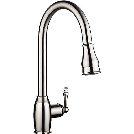 PH7u0026#174; WE7003 1 Hole Brass 360 Degree Pull Down Kitchen Sink