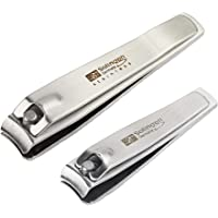 Solingen Nail Clippers | 2 Pcs Professional Sharp Tools Set | Stainless Steel Metal Made in Germany | Kit for Manicure…