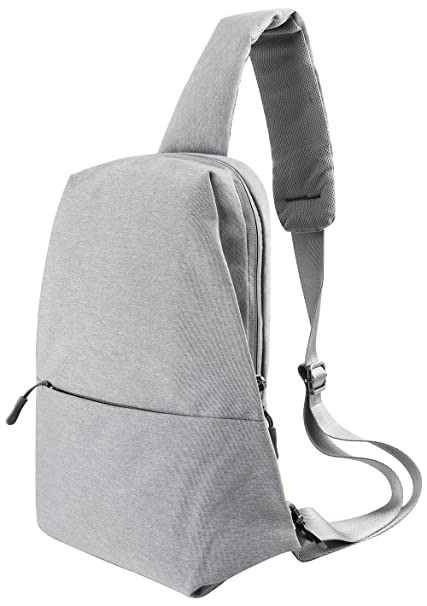 022261dfc87 Amazon.com   Sling Bag Chest Shoulder Backpack Crossbody Bags for Men Women  Travel Outdoors(Grey)   Casual Daypacks