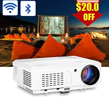 Projector with Bluetooth Wireless HD 1080P Support Wxga 3600lumen LCD LED Smart TV Proyector HDMI USB Ypbpr Audio VGA AV& Speaker for Game Consoles ...