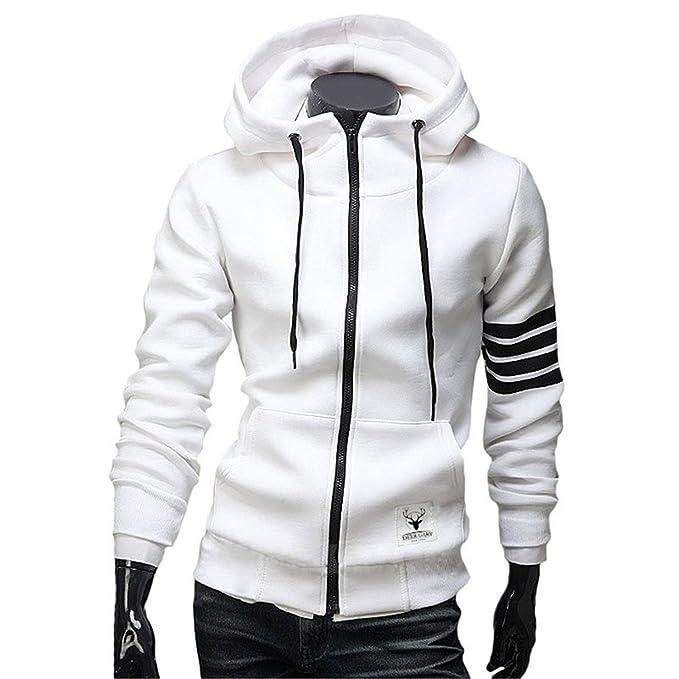 54c10db4a75 Willsin7so Fashion Men Hoodies Leisure Sweatshirts Casual Zipper Jackets at  Amazon Men s Clothing store