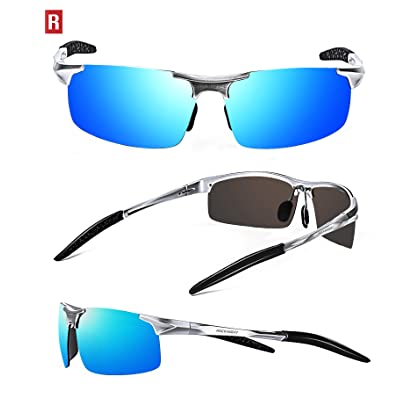 e9fcdc6bca ROCKNIGHT Driving Polarized Sunglasses for Men UV Protection Ultra  Lightweight Al Mg Golf Fishing Sports Sunglasses
