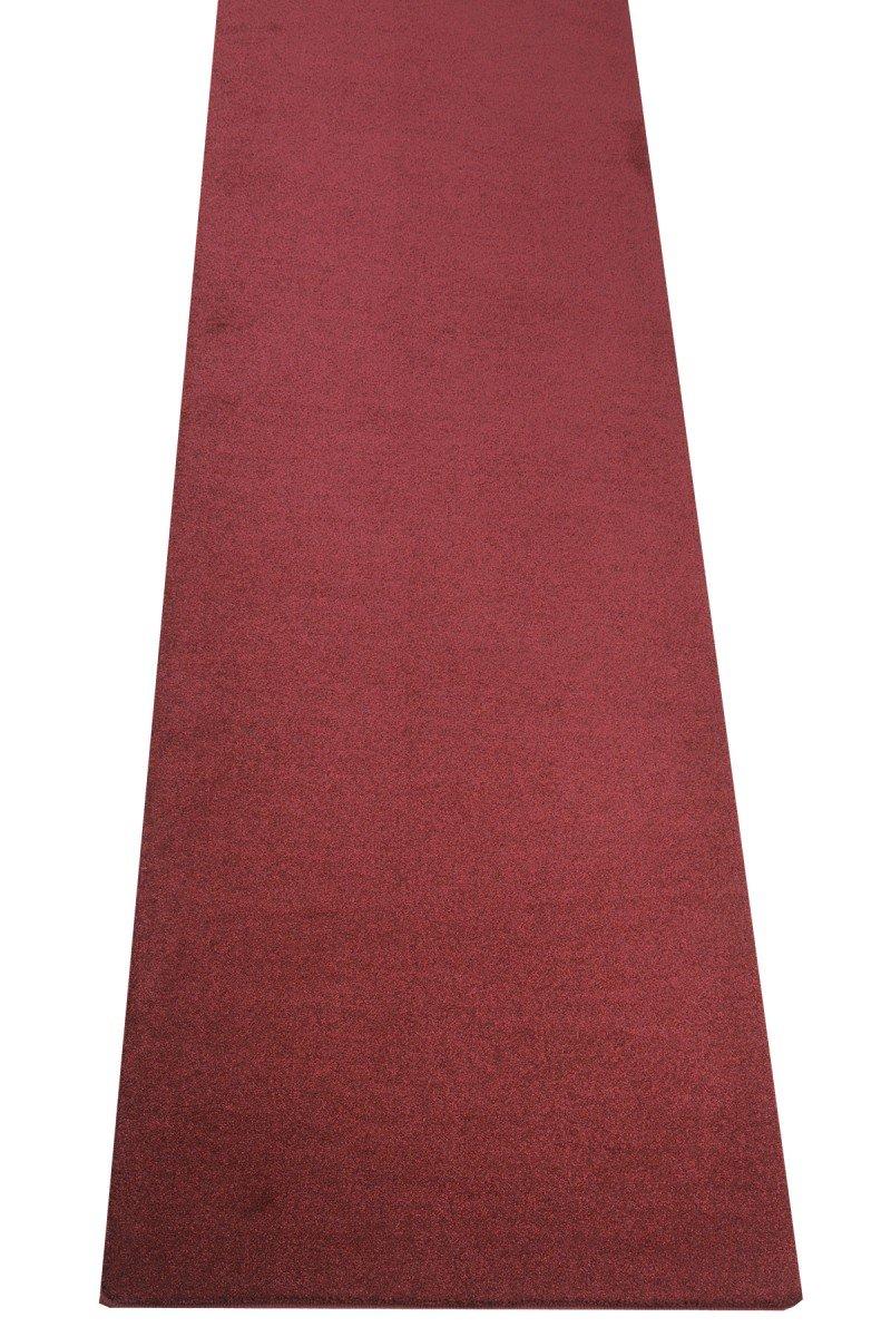 Havatex Luxus Velours Teppich Läufer Buffalo - große Farbauswahl viele Größen   Prüfsiegel  Blauer Engel   100% Polypropylen   weicher Flor, Farbe Rot, Größe 80 x 550 cm