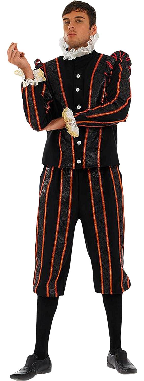 Halloweenia Halloweenia Halloweenia - Herren Karneval Kostüm Shakespeare , Schwarz, Größe L a5483b