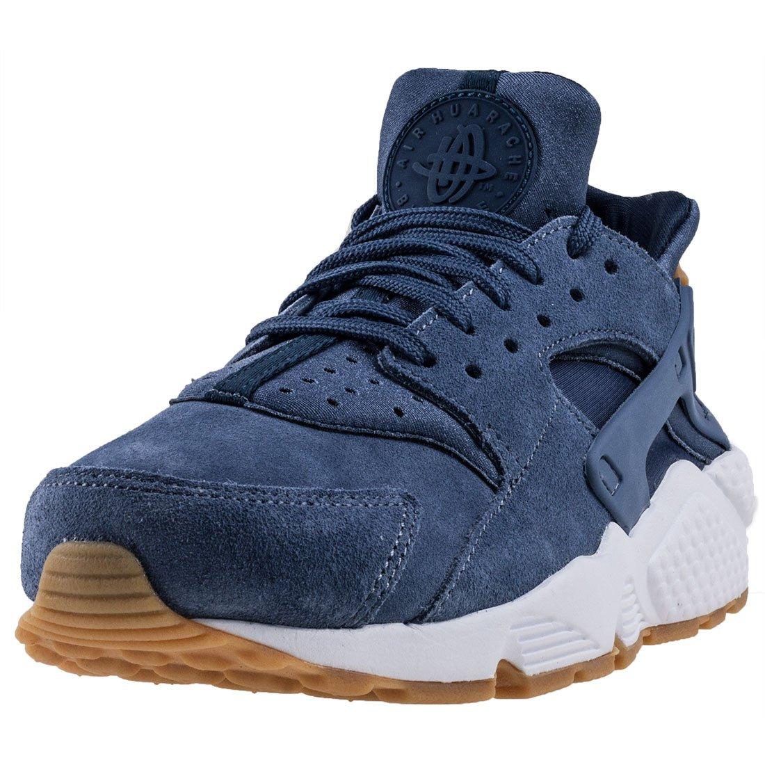 288176d8870 Nike Air Huarache Run Suede Womens Shoes Diffused Blue aa0524-400 (9.5 B(M)  US)