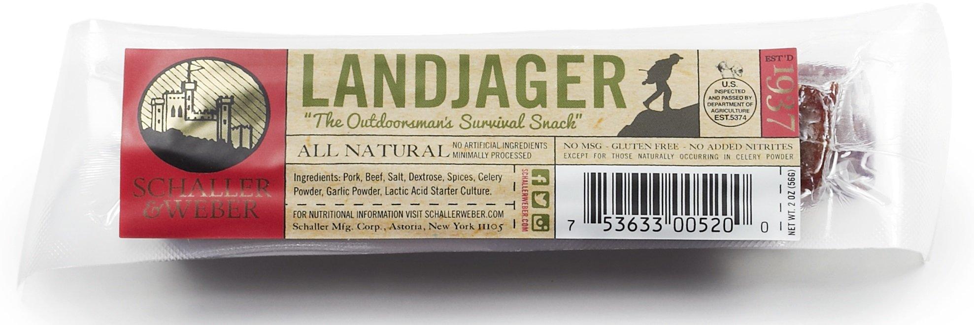 Schaller & Weber All Natural Landjaeger - 1 Pair (Pack of 10 Pairs)