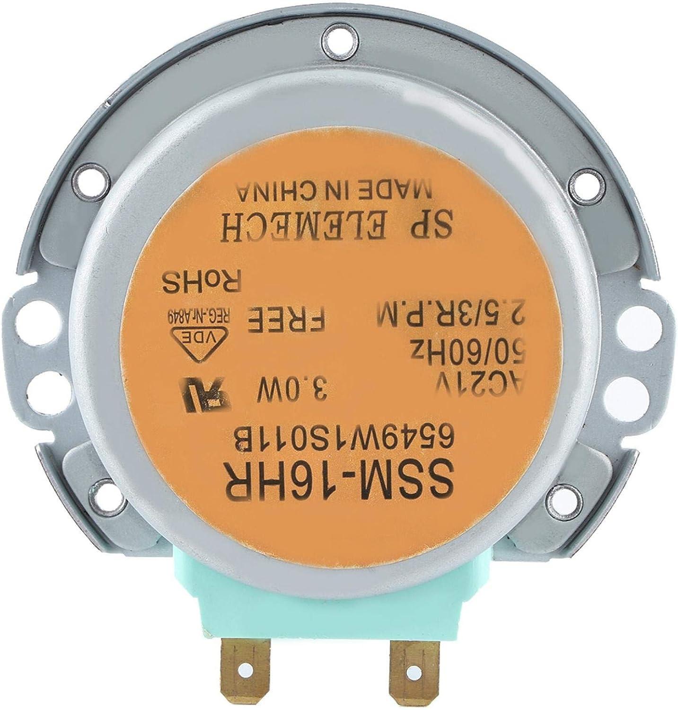 Motor de plato giratorio de microondas Se puede reemplazar Pieza de horno de microondas conveniente de usar Motor de plato giratorio de microondas fuerte y duradero Cocina para el hogar