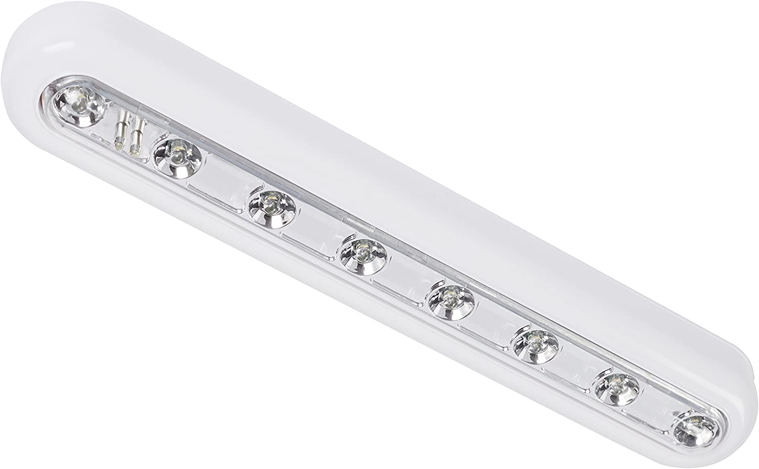 Lights4fun Pair of Warm White 8 LED Touch Operated Battery Cupboard Light with 3M Pads