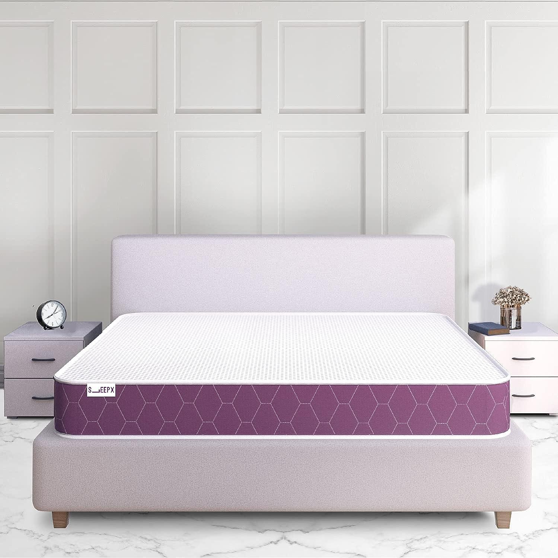 SleepX Ortho Mattress - Memory Foam - Double Bed Size (72*48*5)