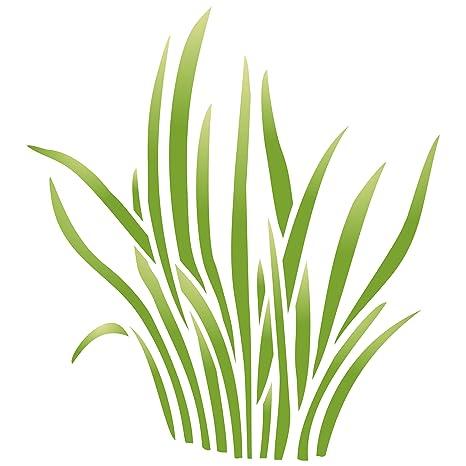 Hierba plantilla - reutilizable de pared plantillas para ...