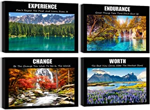 Visual Art Decor Modern Home Office Wall Decoration Inspirational Success Quotes Motivation Saying Poster Canvas Prints Nature Landscape Picture Artwork (01, 12x16x4)