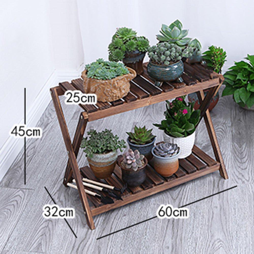 Flower Stand Flower Rack   Rack per fiori in legno multistrato   Espositore decorativo   Moderno   minimalista   Giardino di casa Patio   Giardino di fiori all'aperto Patio Display (2 colorei) ( colore   B , dimensioni    2 )