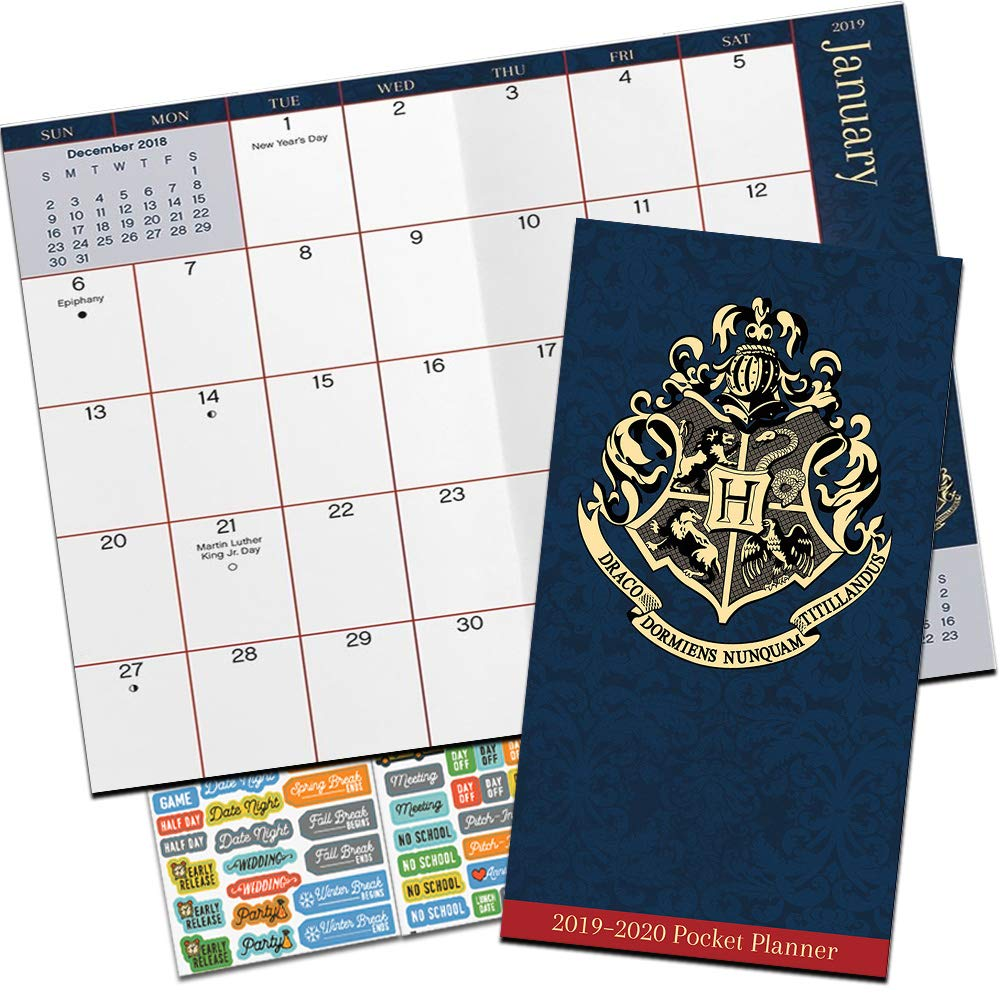 Harry Potter Monthly Pocket Planner 2019-2020 with DateWorks Calendar Stickers (Two Year Harry Potter Planner Calendar Set)