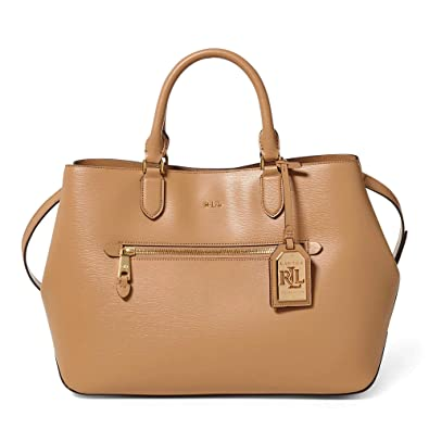 18a600e04d93 Amazon.com  Ralph Lauren Newbury Sabine Satchel Medium Leather Handbag