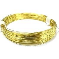 ART IFACT Metal Brass 24 Gauge Golden Wire for Jewellery, 20 m