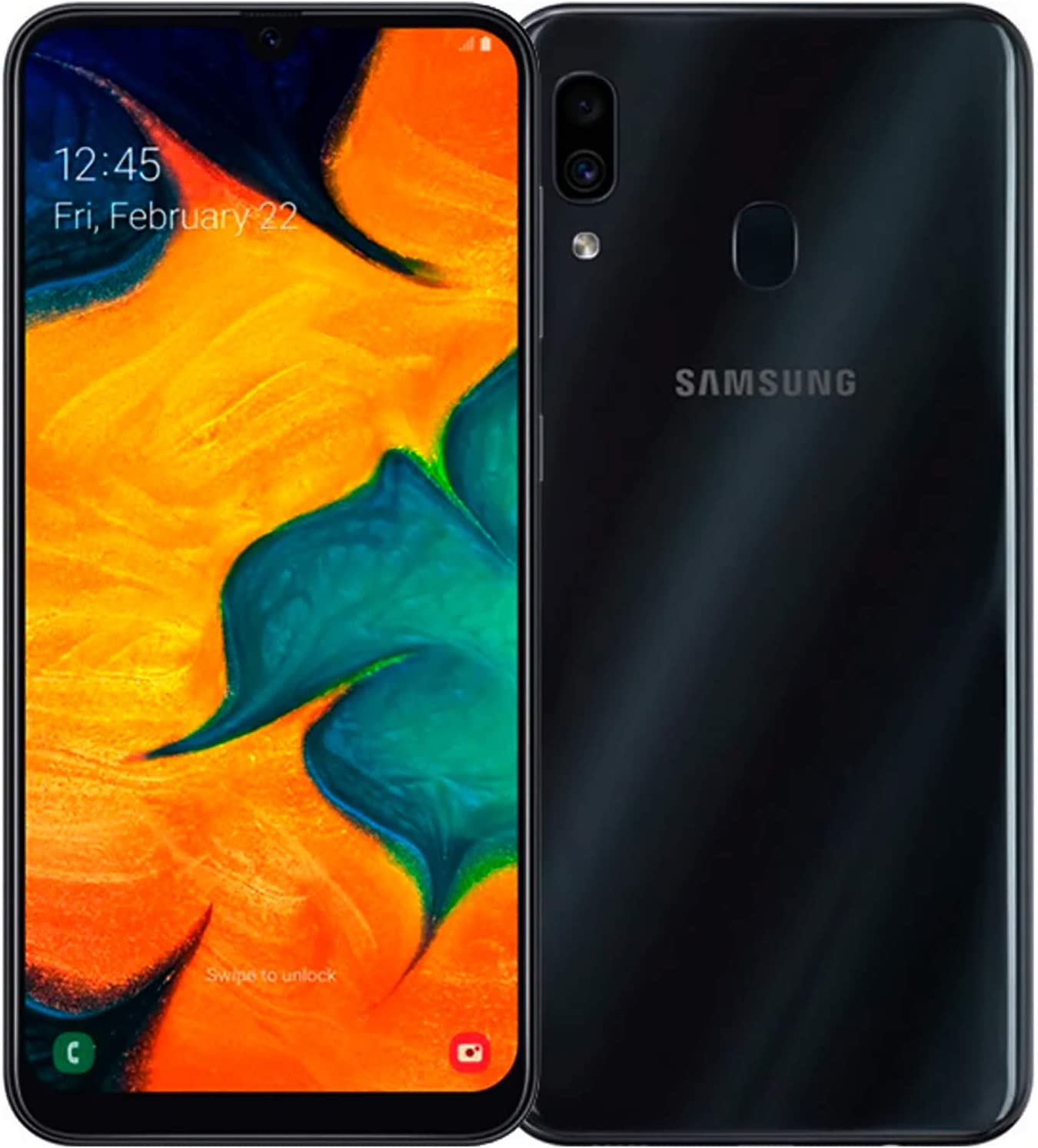 Samsung Galaxy A30 Dual SIM 64GB 4GB RAM A305F-DS Black: Amazon.es ...