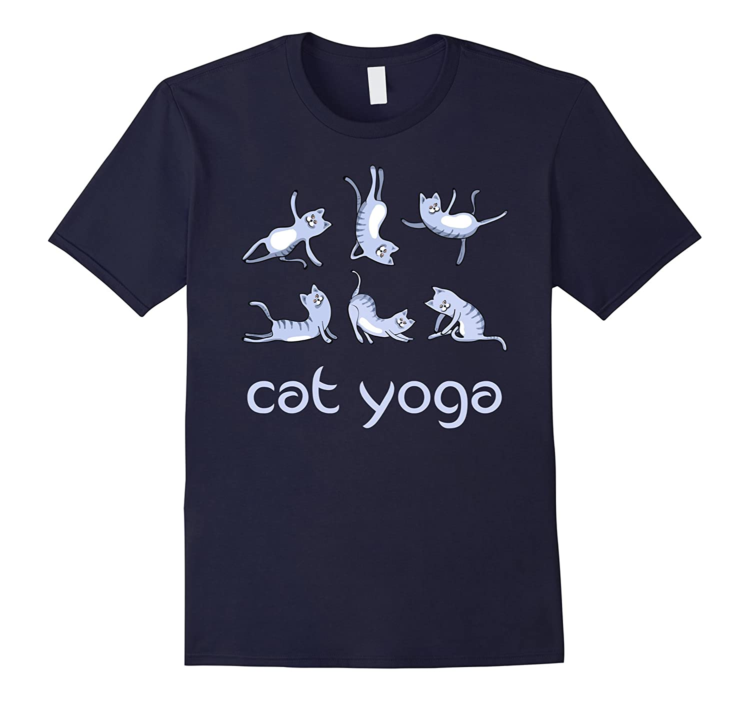 cat yoga humor buddha hindu shanti gym T-Shirt fun-TJ