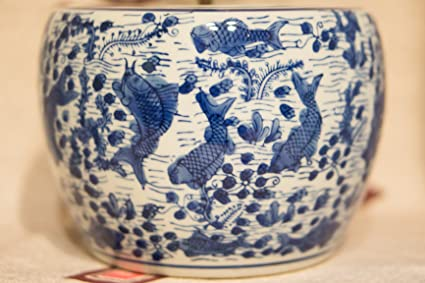 Hibachi-pequeña cerámica y porcelana japonesa pecera Togei Ikebana ...