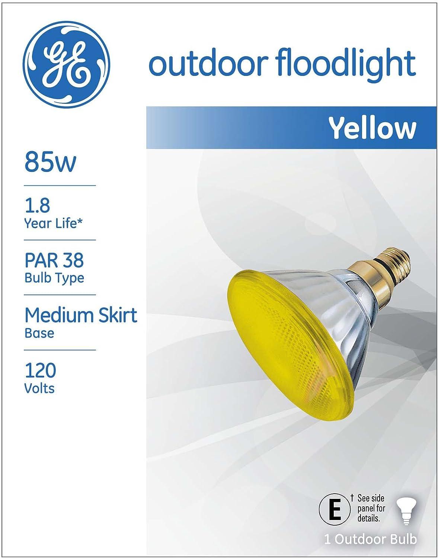 GE Lighting 13473 85-Watt Outdoor PAR38 Incandescent Light Bulb Yellow