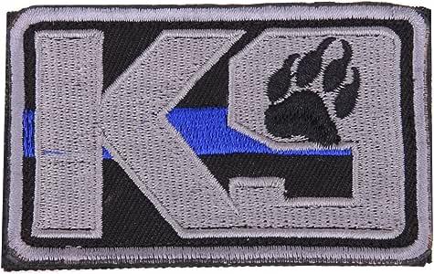 K9 delgada línea azul Policía Perro Bordado Airsoft Paintball parche: Amazon.es: Deportes y aire libre