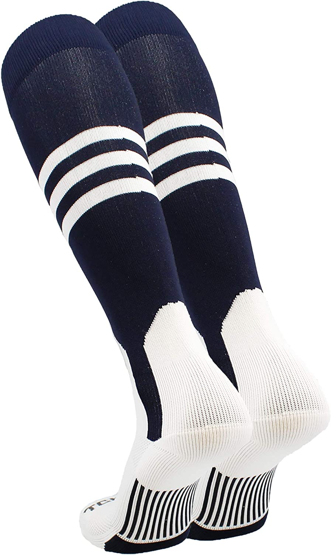 TCK Baseball Stirrup Socks with Stripes