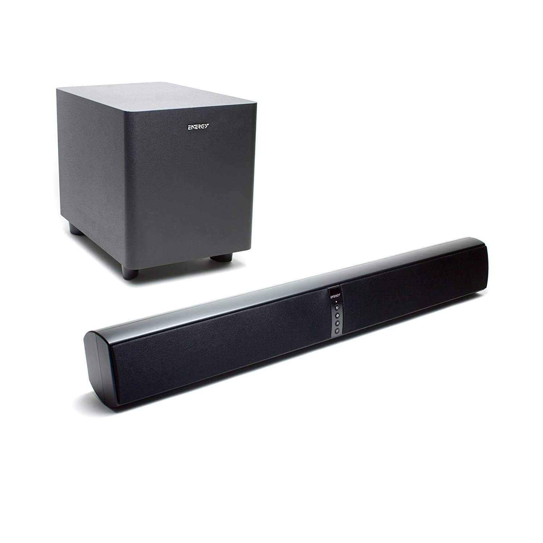 amazon com energy power bar soundbar with wireless subwoofer satin