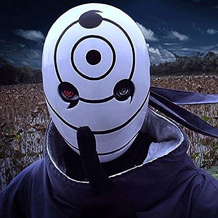 Resina Tobi casco Obito Naruto Uchiha Cosplay máscara de