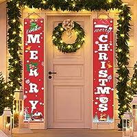 Christmas Decoration, Christmas Porch Sign, Home-Mart Merry Christmas Decoration Banner,Home Outdoor Porch Sign for Xmas…