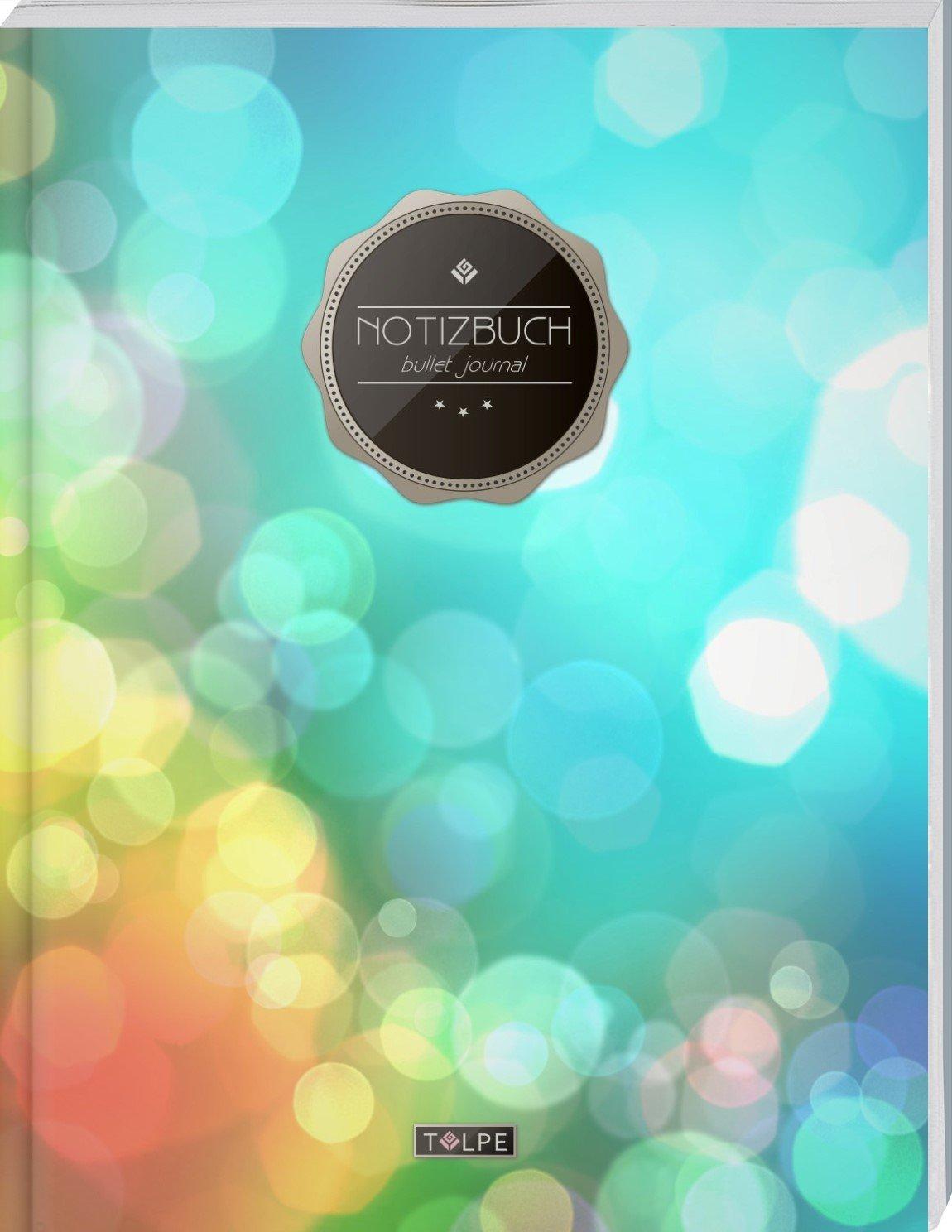 """TULPE Bullet Journal A4 """"C002 City Lights"""" (140+ Seiten, Vintage Softcover, Punktkariertes Papier – Punktraster Notizbuch, Handlettering, Skizzenbuch, Zeichenbuch) Taschenbuch – Großdruck, 19. August 2017 Tulpe BuJo's 1975615883"""