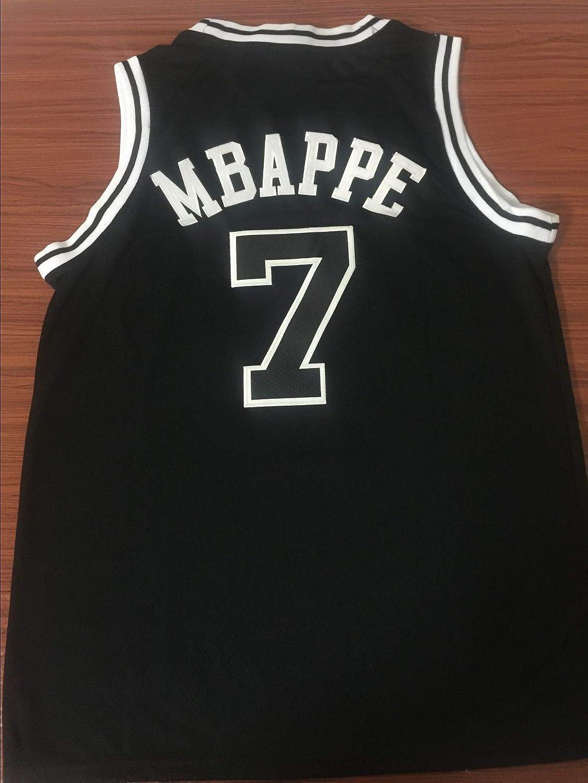CRBsports Kylian Mbaps, Camiseta de Baloncesto, PSG, Bordado de ...