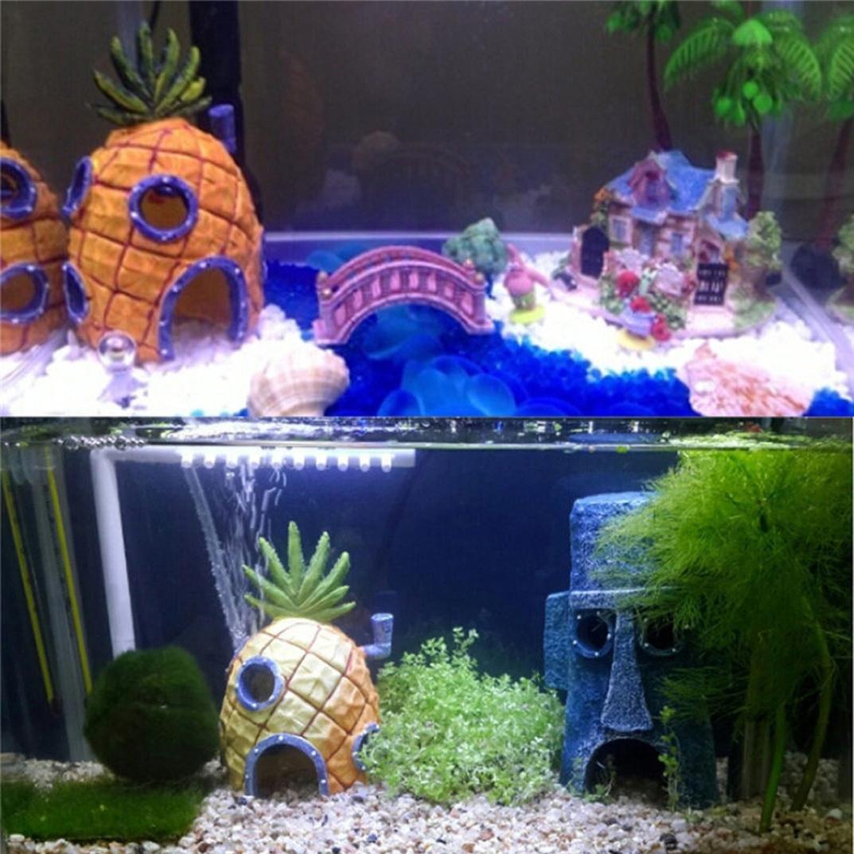 deesee (TM) dibujos animados Resina Castillo Castillo de acuarios decoración acuario pecera Torre: Amazon.es: Productos para mascotas