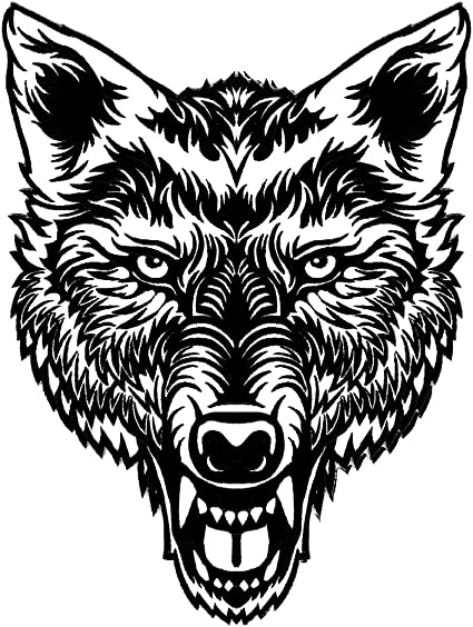"lone wolf black 12/"" Bottom Rocker  UNITED STATES Sew-On biker patch no club"