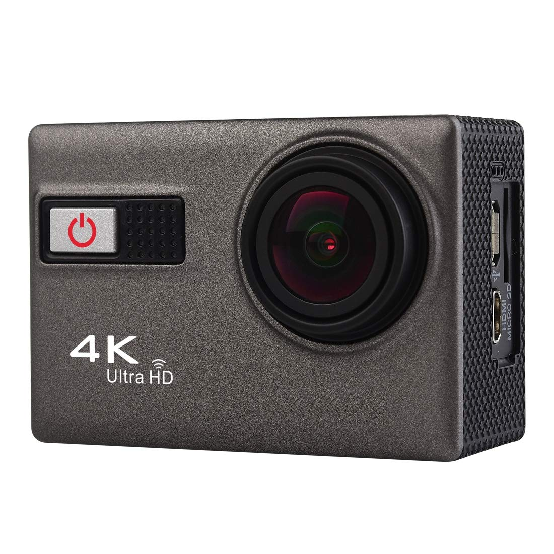Camera Accessories F68 Portable 4K Ultra HD WiFi Waterproof Sport Camera, 2.0 inch Screen, Novatek 96660, 170 A+ Degrees Wide Angle Lens, Water Resistant Depth: 30m(Grey) (Color : Grey) by LUQIN
