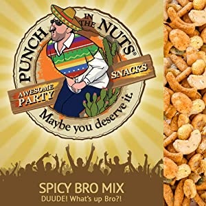 Punch in the Nuts - Spicy Trail Mix Bulk - MADE IN THE USA Snacks - Funny Gag Gifts for Men - Food Gift