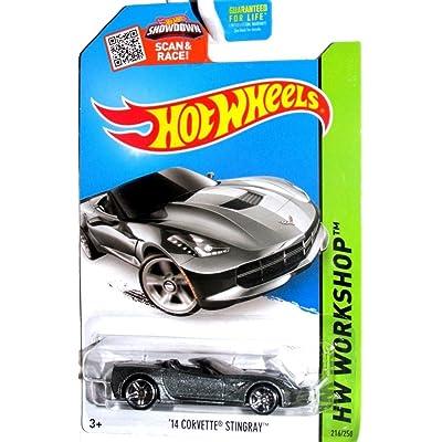 Hot Wheels 2015 HW Workshop '14 Corvette Stingray 216/250, Silver: Toys & Games