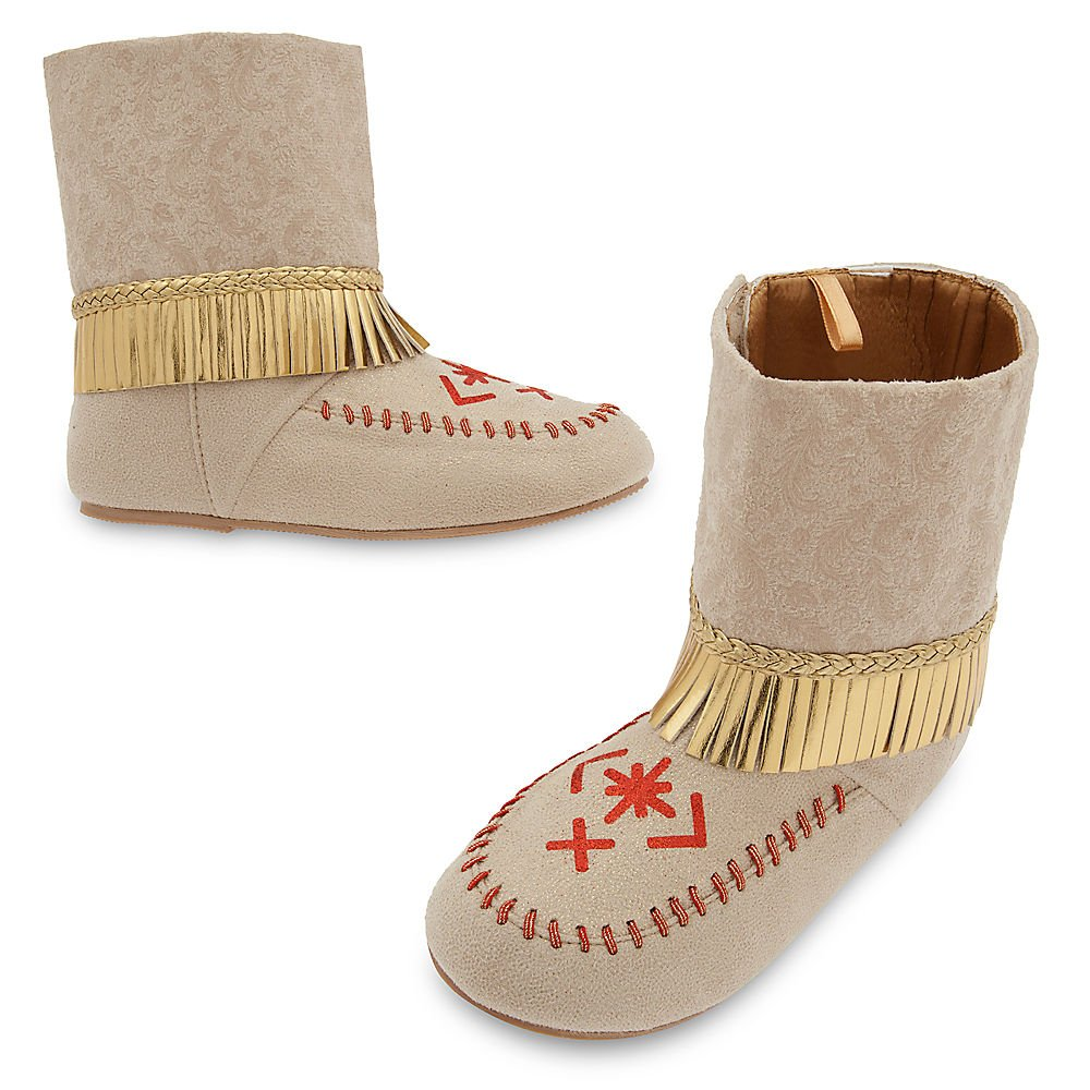 Disney Pocahontas Costume Shoes for Kids Size 11/12 YOUTH