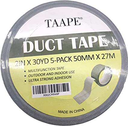 3-Pack Designed for Home and Office use with Super Viscous Force, Commercial Grade Strength No Residue Tear by Hand Design Professional Grade Heavy Duct Tape 30 Yards x 2 inch Wide