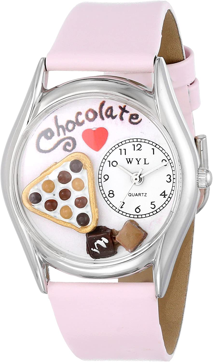 Whimsical Watches Women s S0310005 Chocolate Lover Pink Leather Watch