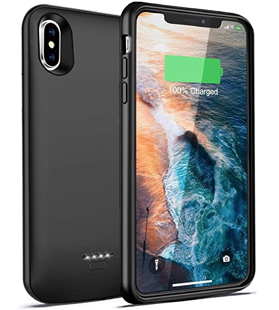 buy popular df2aa 7be50 iPhone X/Xs Battery Case, Slim Case Charger, Thin Rechargeable Charging  Case Protective for iPhone Xs/X /10, Best Extended Portable Power Case ...