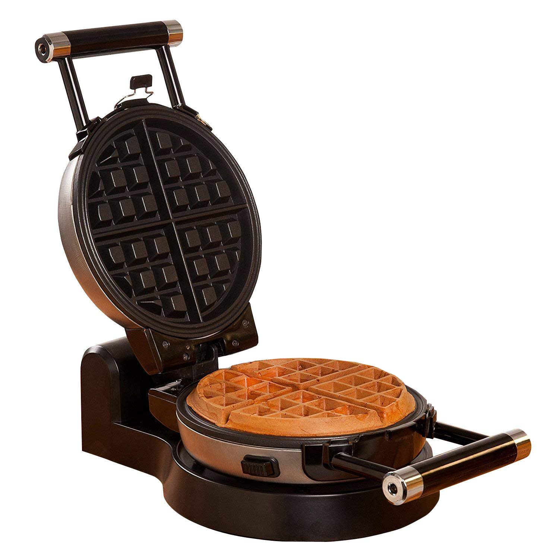 Health and Home Flip Waffle Maker, Rotate Waffle Maker, Black ++Sliver