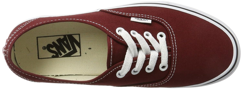 Vans Unisex-Erwachsene Authentic Sneaker Braun/True Rot (Madder Braun/True Sneaker Weiß) 82c442