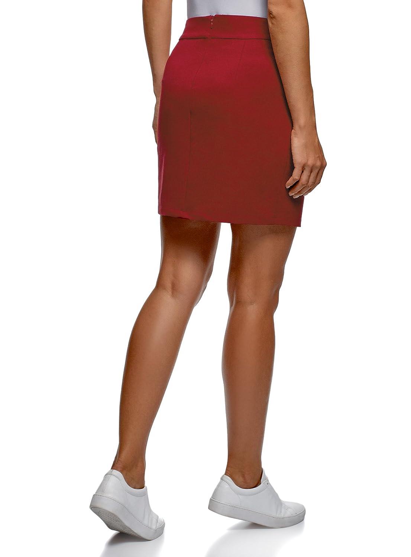 290f4dfabe oodji Ultra Mujer Falda de Punto con Cremallera RIFICZECH s.r.o. 14101106