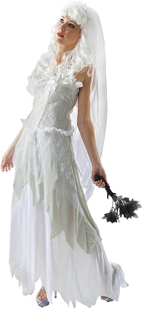 ORION COSTUMES Disfraz de Novia Fantasma Vestido de Bodas ...