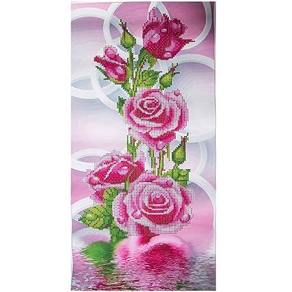 Amazon Com Joylive 5d Diy Painting Rose Flower 3d Cross Stitch