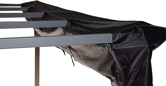 Jet-Line - Lona Protectora para pérgola (4 x 3 m), Color Negro ...