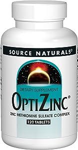 Source Naturals OptiZinc Zinc Methionine Sulfate Complex & Dietary Supplement - 120 Tablets