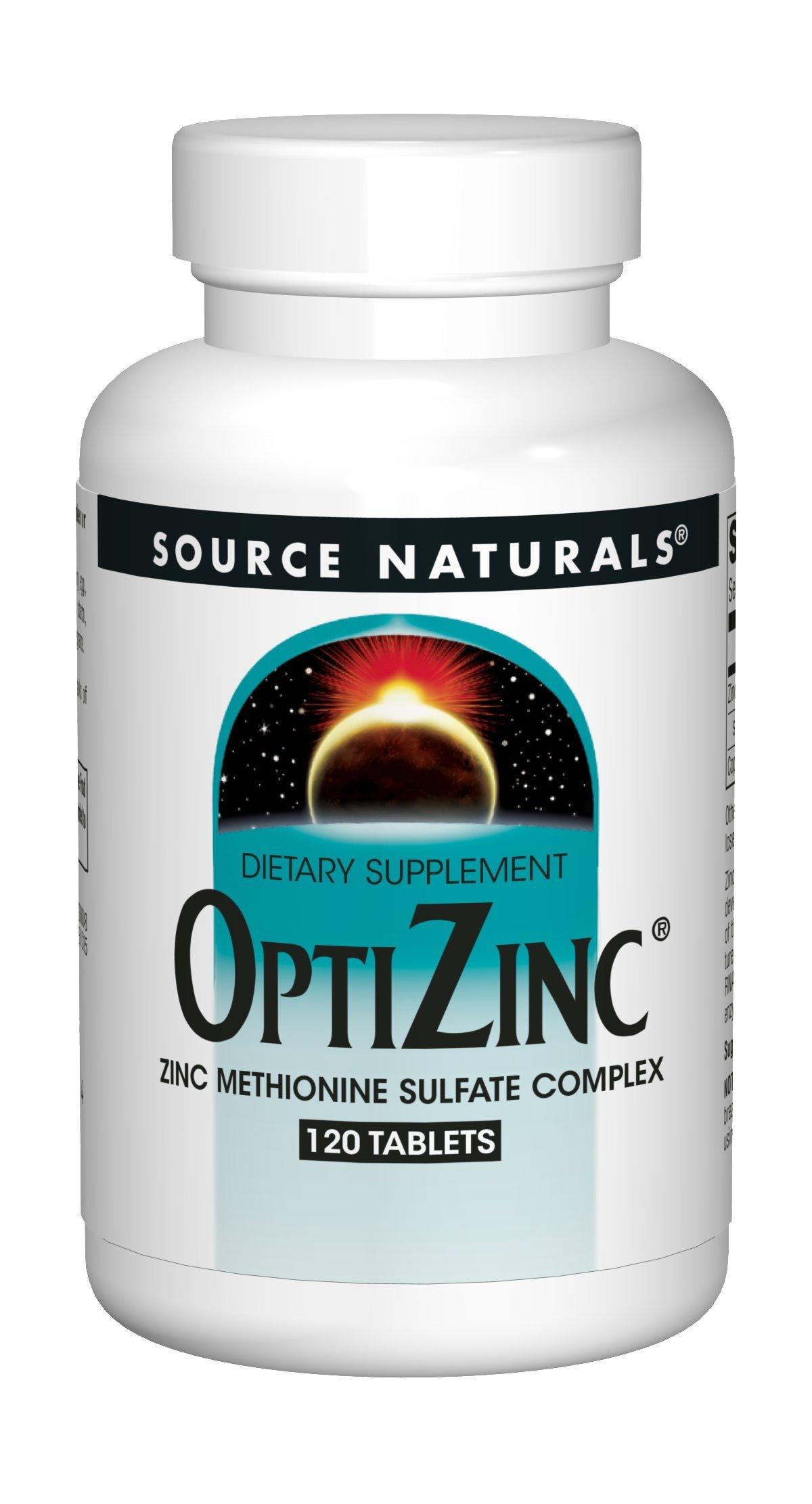 Amazon Com Source Naturals Optizinc 120 Tablets Health Personal