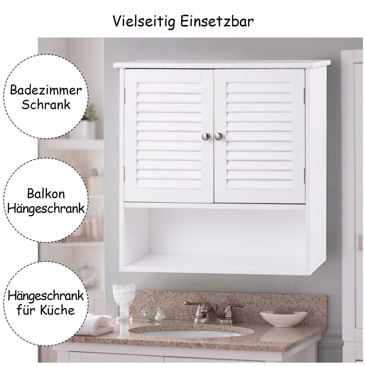 Amazon Com Myeasyshopping Double Doors Shelves Bathroom Wall